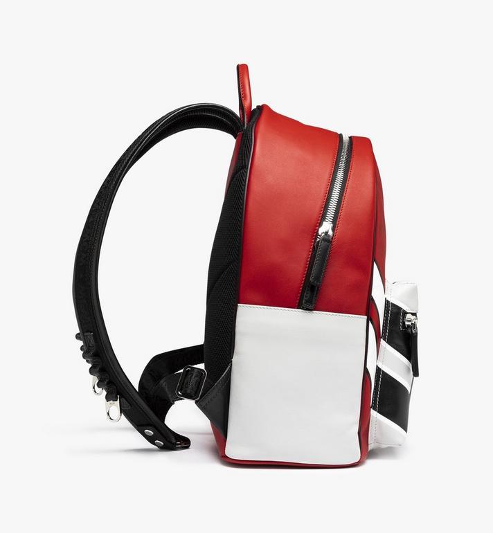 MCM Stark Backpack in Contrast Logo Leather Red MMK9SVE12RU001 Alternate View 2