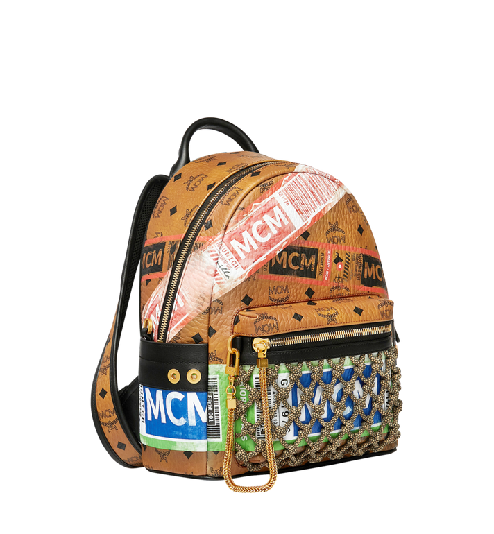 MCM Sac à dos Stark en Visetos Flight Print Cognac MMK9SVE25CO001 Alternate View 2