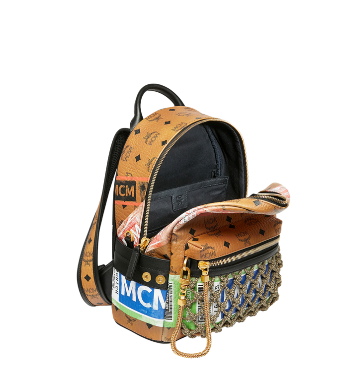 MCM Sac à dos Stark en Visetos Flight Print Cognac MMK9SVE25CO001 Alternate View 5