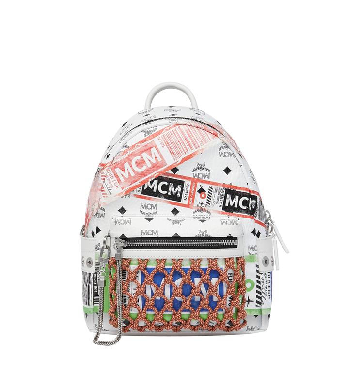 MCM Stark Rucksack in Flight Print Visetos Alternate View 1