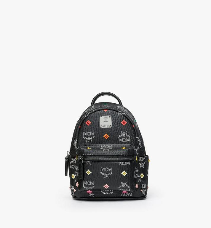 MCM Stark Bebe Boo Rucksack in Skyoptic Stud Visetos Alternate View