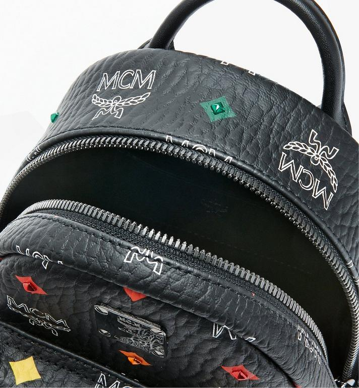 MCM Stark Bebe Boo Rucksack in Skyoptic Stud Visetos Alternate View 4