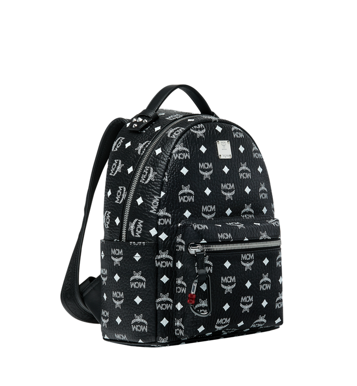 MCM Stark Backpack in White Logo Visetos Black MMK9SVE49BV001 Alternate View 2