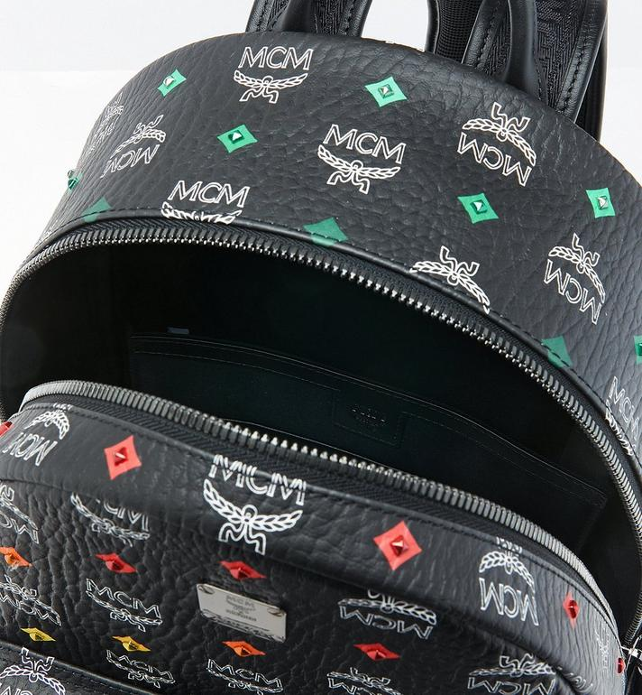 MCM Stark Backpack in Skyoptic Stud Visetos Alternate View 4