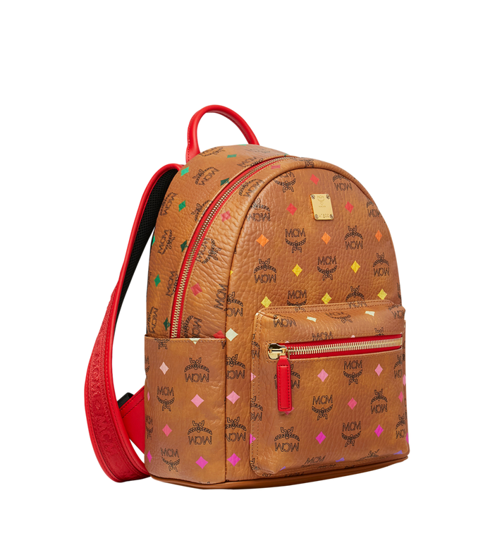 MCM Stark Rucksack in Skyoptic Visetos Cognac MMK9SVE68CA001 Alternate View 2