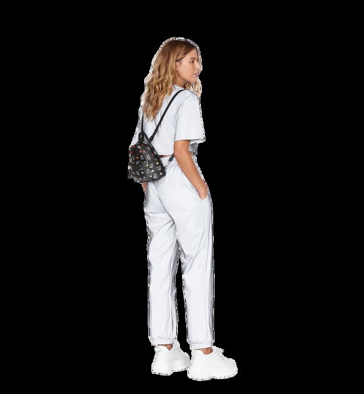 MCM Stark Bebe Boo Backpack in Skyoptic Visetos Alternate View 8