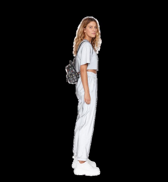 MCM Stark Bebe Boo Backpack in Skyoptic Visetos Alternate View 9