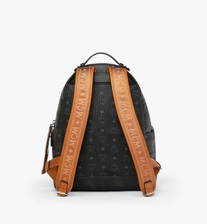 MCM Stark Backpack in Visetos Black MMK9SVE73BK001 Alternate View 3