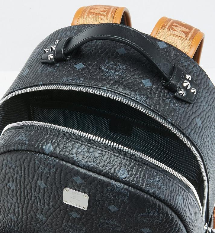 MCM Stark Backpack in Visetos Black MMK9SVE73BK001 Alternate View 4