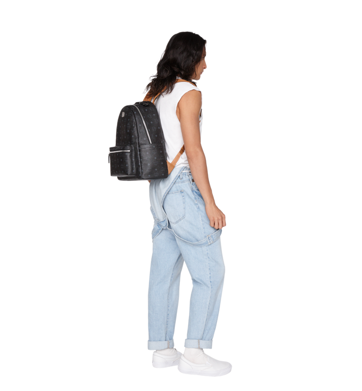 MCM Stark Backpack in Visetos Black MMK9SVE73BK001 Alternate View 7