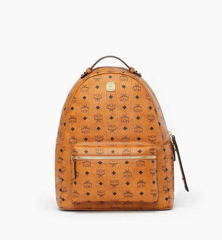 MCM Stark Backpack in Visetos Cognac MMK9SVE73CO001 Alternate View 1