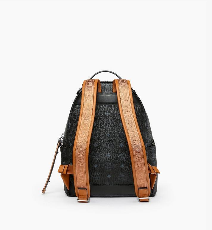 MCM Stark Backpack in Visetos Black MMK9SVE74BK001 Alternate View 3