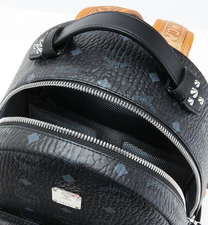 MCM Stark Backpack in Visetos Black MMK9SVE74BK001 Alternate View 4