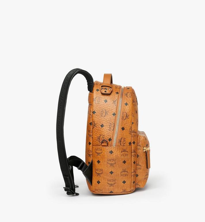MCM Stark Backpack in Visetos Cognac MMK9SVE74CO001 Alternate View 2