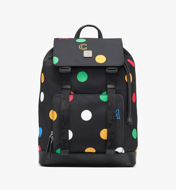 MCM Brandenburg Backpack in Polka Dot Nylon Alternate View