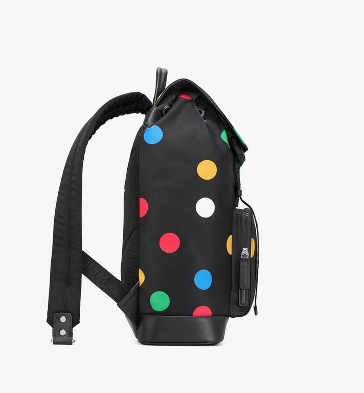 MCM Brandenburg Backpack in Polka Dot Nylon Black MMKAABG03BK001 Alternate View 2