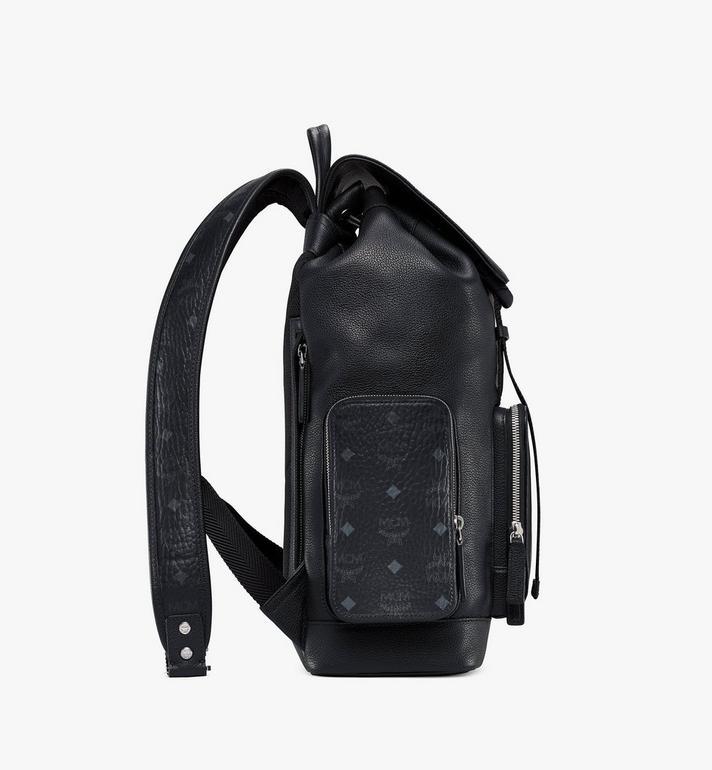 MCM Brandenburg Backpack in Visetos Leather Block Cognac MMKAABG05BK001 Alternate View 2
