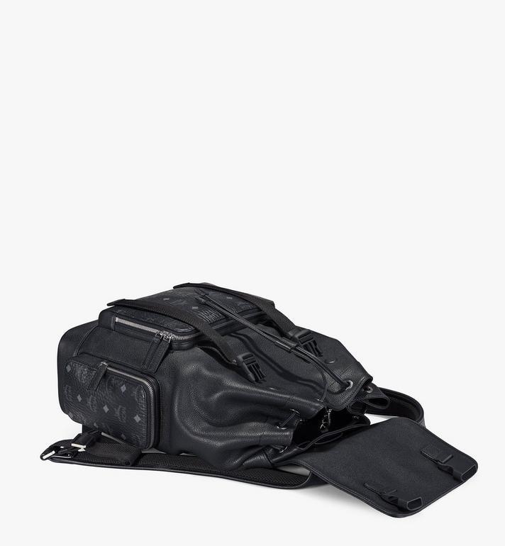 MCM Brandenburg Backpack in Visetos Leather Block Cognac MMKAABG05BK001 Alternate View 3