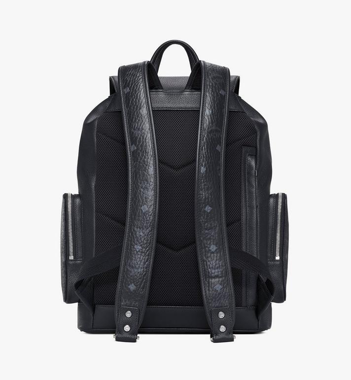 MCM Brandenburg Backpack in Visetos Leather Block Cognac MMKAABG05BK001 Alternate View 4