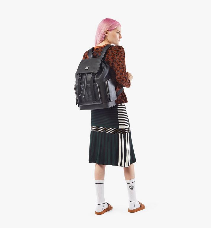 MCM Brandenburg Backpack in Visetos Leather Block Cognac MMKAABG05BK001 Alternate View 5