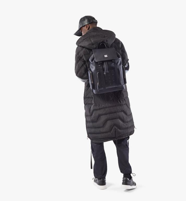 MCM Brandenburg Backpack in Visetos Leather Block Cognac MMKAABG05BK001 Alternate View 6
