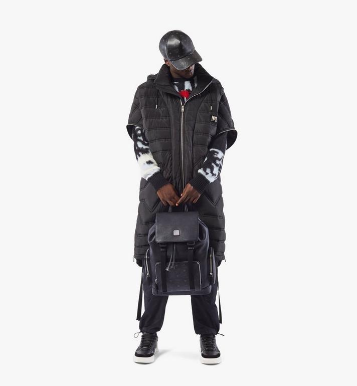 MCM Brandenburg Backpack in Visetos Leather Block Cognac MMKAABG05BK001 Alternate View 7