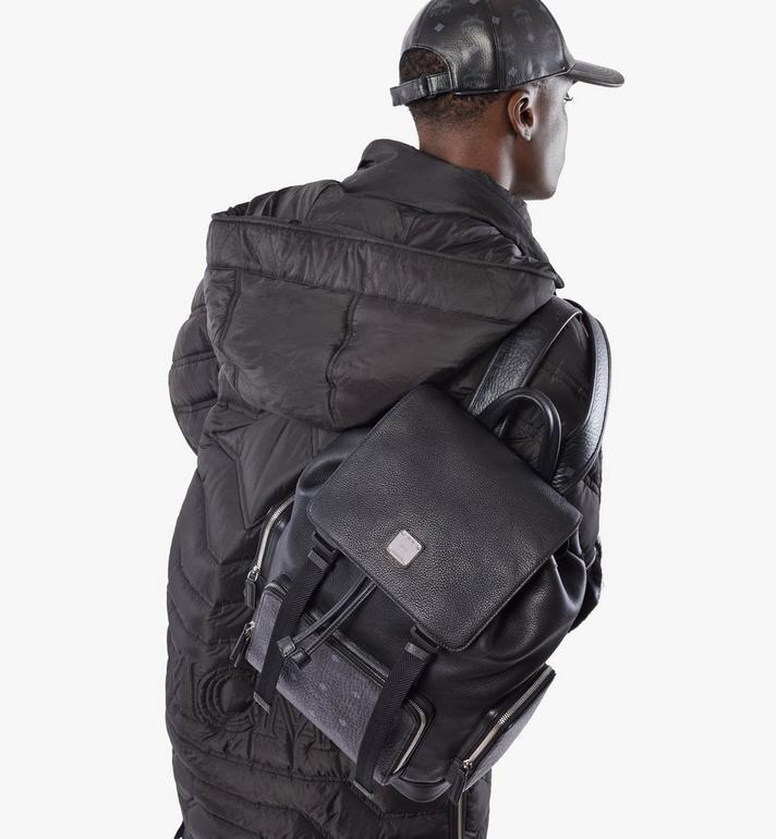 MCM Brandenburg Backpack in Visetos Leather Block Cognac MMKAABG05BK001 Alternate View 8