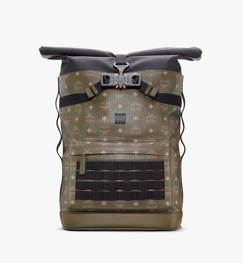 กระเป๋าเป้สะพายหลังแบบม้วนด้านบนลาย Visetos