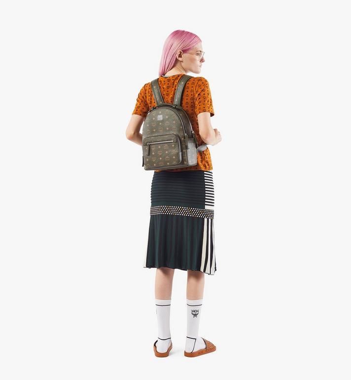 MCM Stark Backpack in Visetos Green MMKAAVE08JH001 Alternate View 7