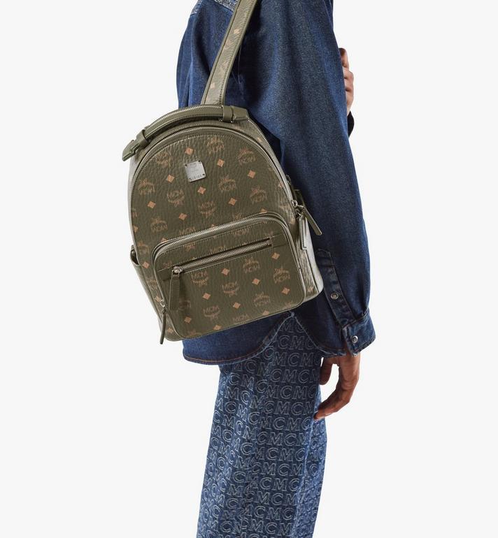 MCM Stark Backpack in Visetos Green MMKAAVE08JH001 Alternate View 9