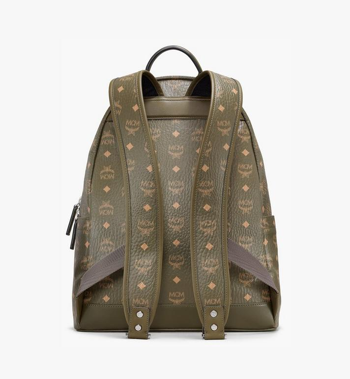 MCM Stark Side Studs Backpack in Visetos Green MMKAAVE16JH001 Alternate View 4