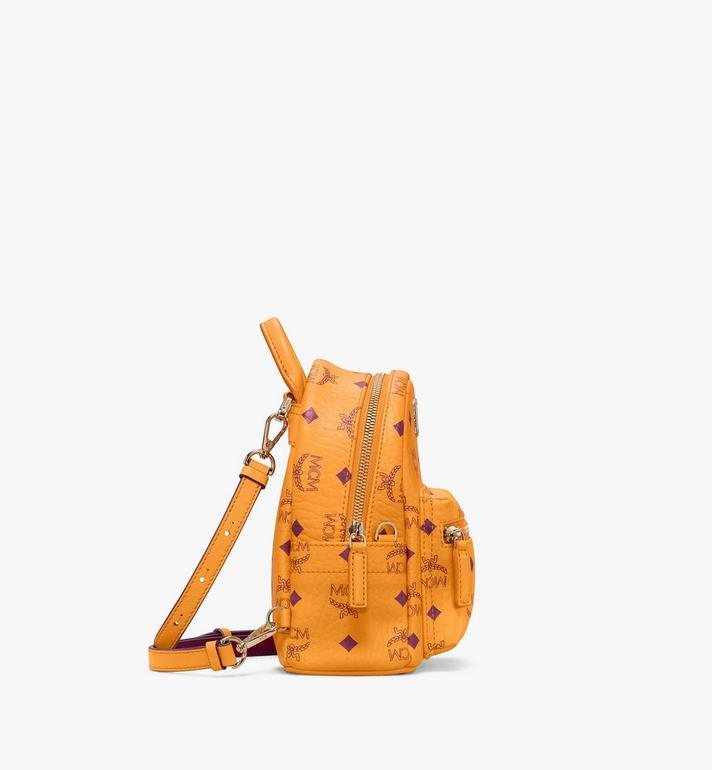 MCM Stark Side Studs Bebe Boo Backpack in Visetos Gold MMKAAVE18O5001 Alternate View 2