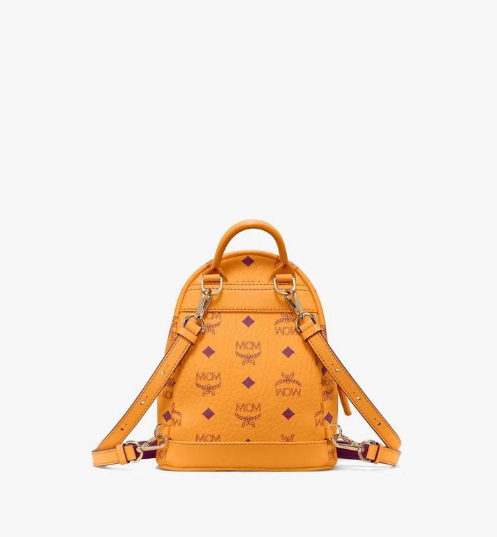 MCM Stark Side Studs Bebe Boo Backpack in Visetos Gold MMKAAVE18O5001 Alternate View 4