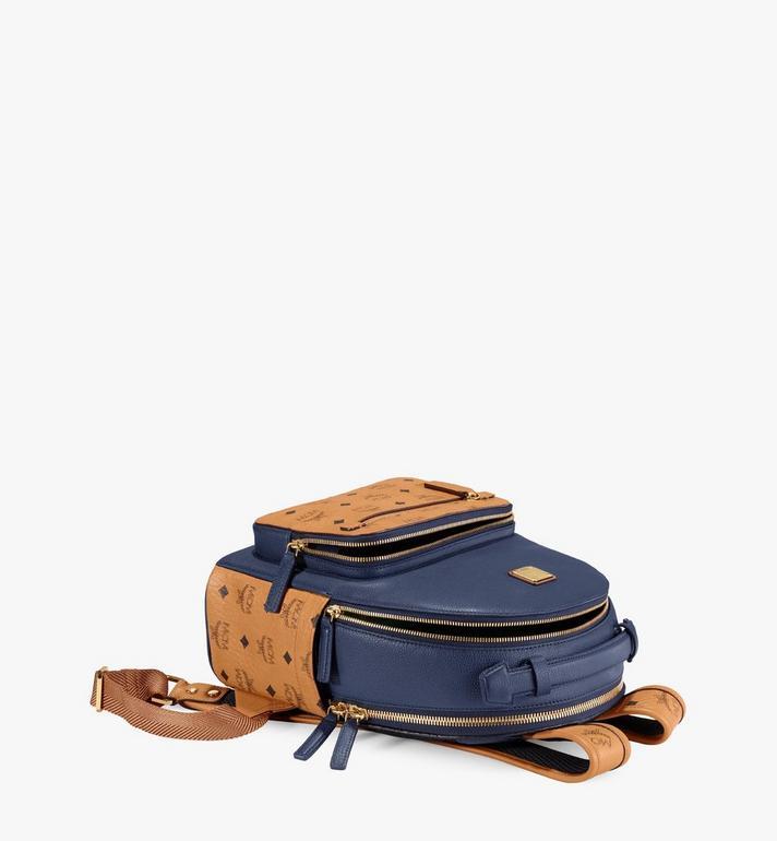 MCM Stark Backpack in Visetos Leather Block Blue MMKAAVE23VU001 Alternate View 3