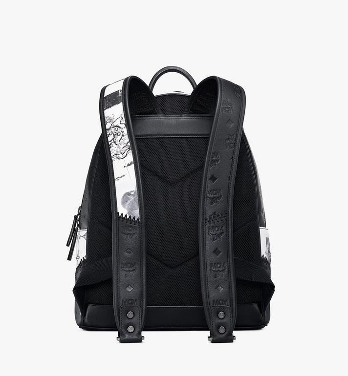 MCM Stark Backpack in Wunderkammer Black MMKAAVE30BK001 Alternate View 4