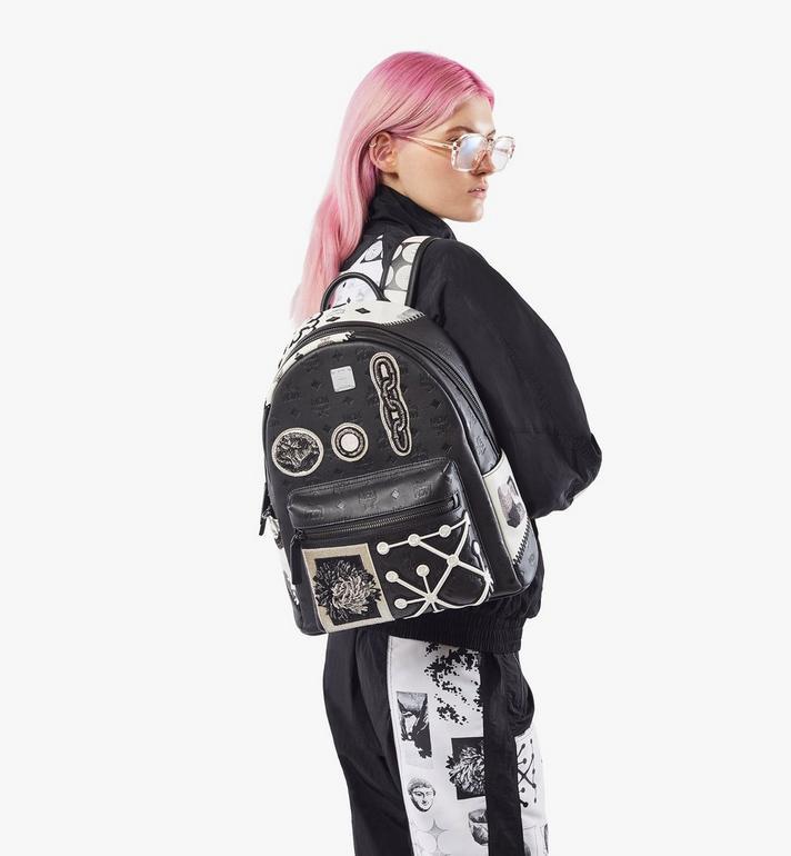 MCM Stark Backpack in Wunderkammer Black MMKAAVE30BK001 Alternate View 7