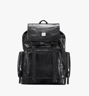 MCM Brandenburg Backpack in Crushed Leather Alternate View