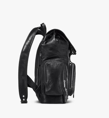MCM Brandenburg Backpack in Crushed Leather Black MMKASBG02BK001 Alternate View 2