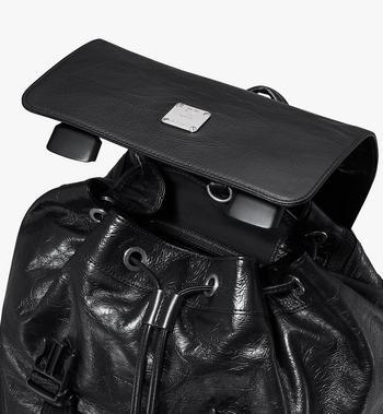 MCM Brandenburg Backpack in Crushed Leather Black MMKASBG02BK001 Alternate View 4