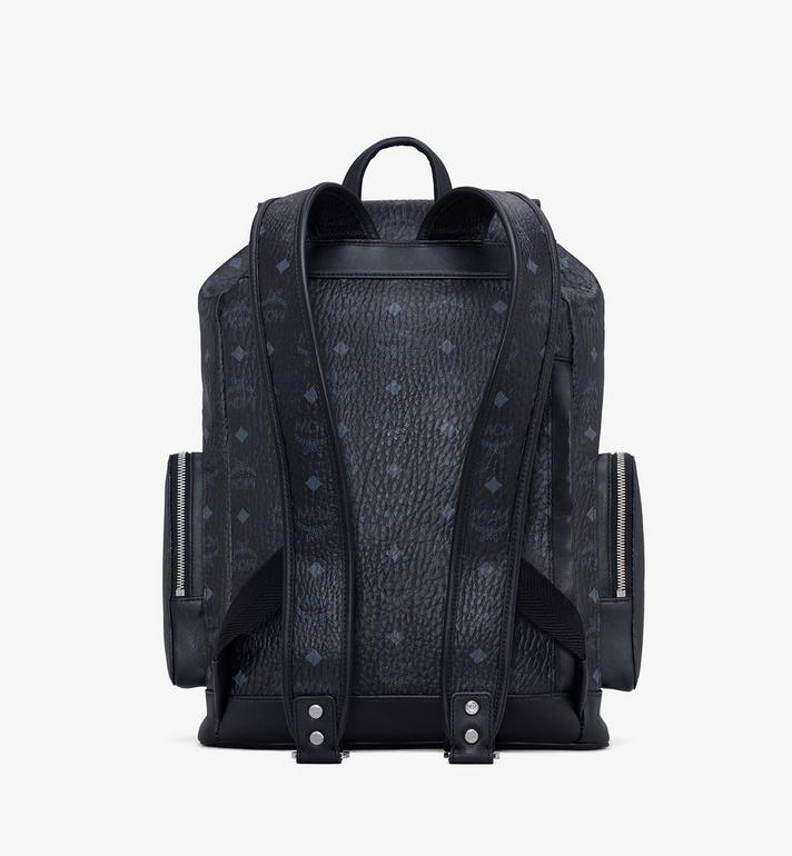 MCM Brandenburg Backpack in Visetos Black MMKASBG04BK001 Alternate View 3