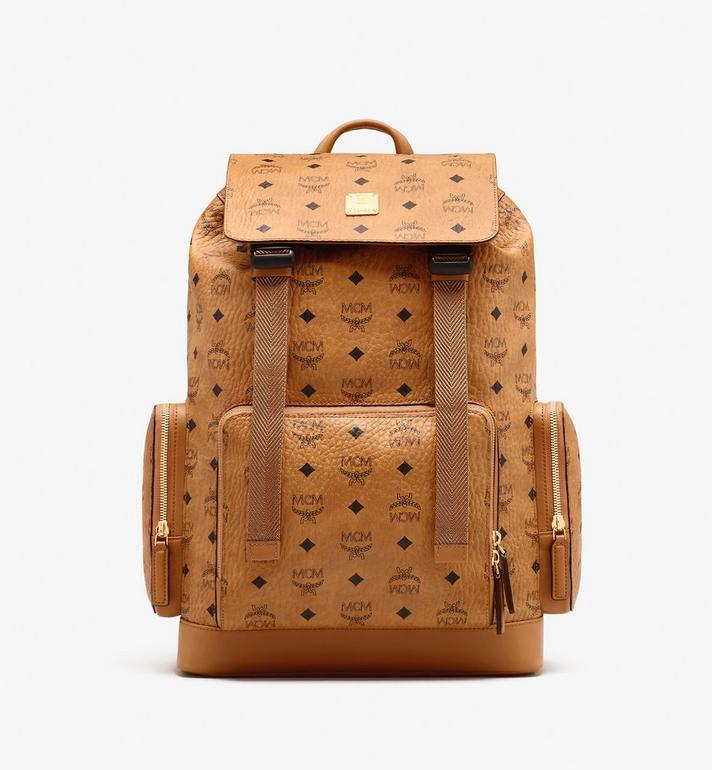 MCM Brandenburg Visetos 皮革背包 Cognac MMKASBG04CO001 Alternate View 1