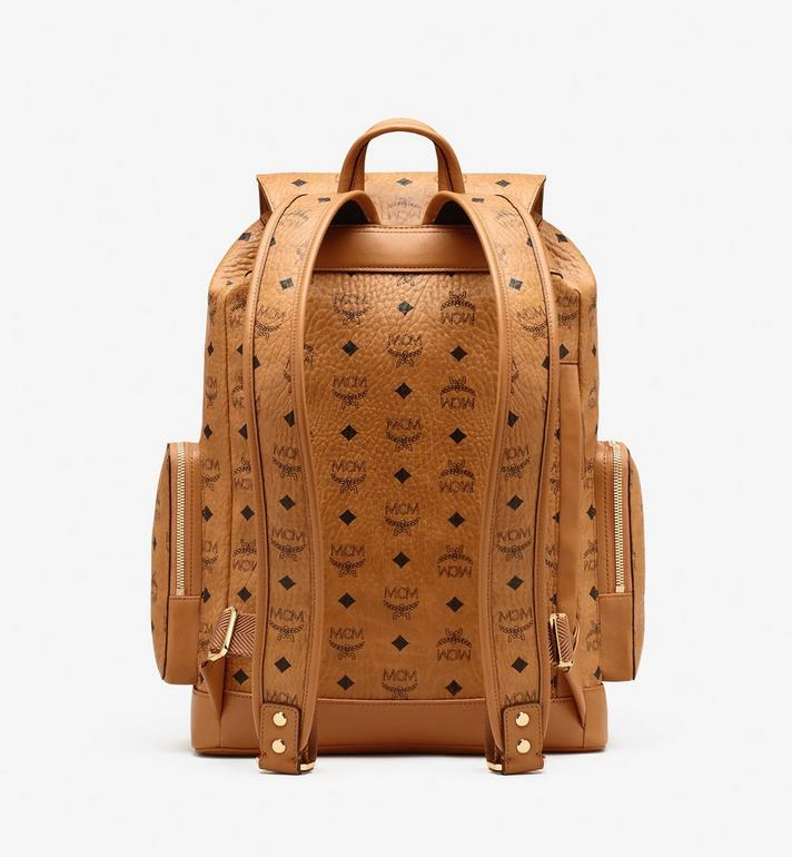 MCM Brandenburg Visetos 皮革背包 Cognac MMKASBG04CO001 Alternate View 3
