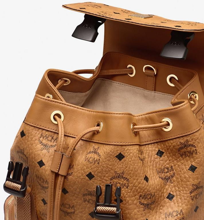 MCM Brandenburg Visetos 皮革背包 Cognac MMKASBG04CO001 Alternate View 4