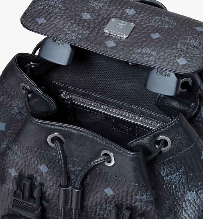 MCM Brandenburg Backpack in Visetos Black MMKASBG05BK001 Alternate View 4