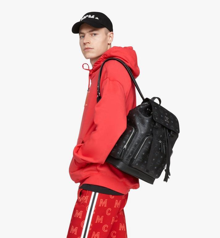 MCM Brandenburg Backpack in Visetos Black MMKASBG05BK001 Alternate View 5