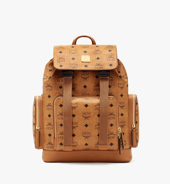 MCM Brandenburg Visetos双肩背包 Cognac MMKASBG05CO001 Alternate View 1