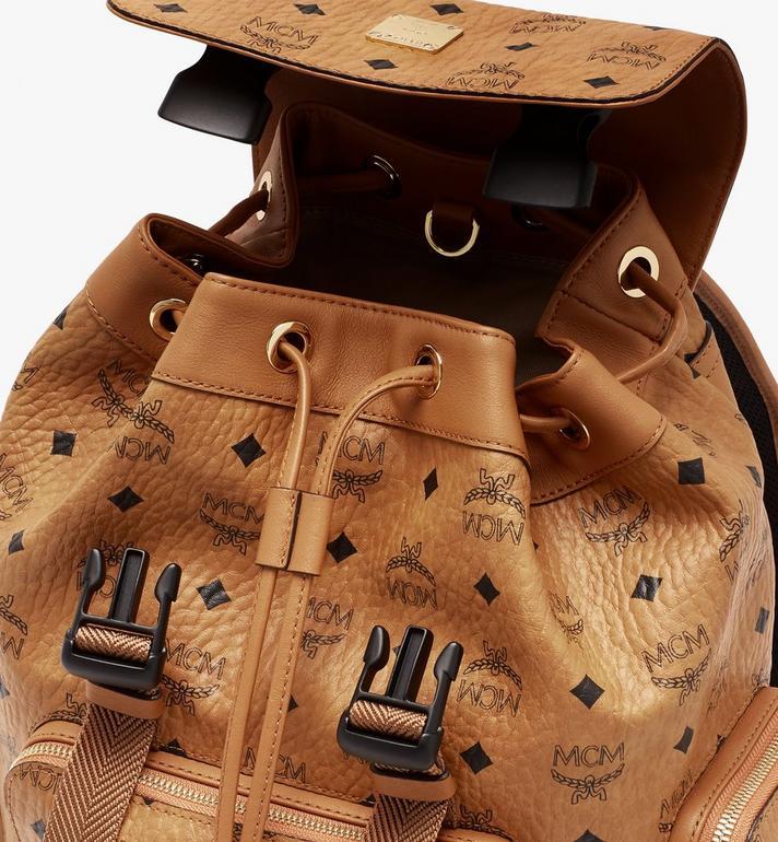 MCM Brandenburg Backpack in Visetos Cognac MMKASBG05CO001 Alternate View 4