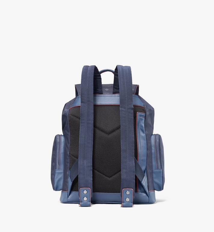 MCM Brandenburg Backpack in Monogram Nylon Navy MMKASBG08VA001 Alternate View 3