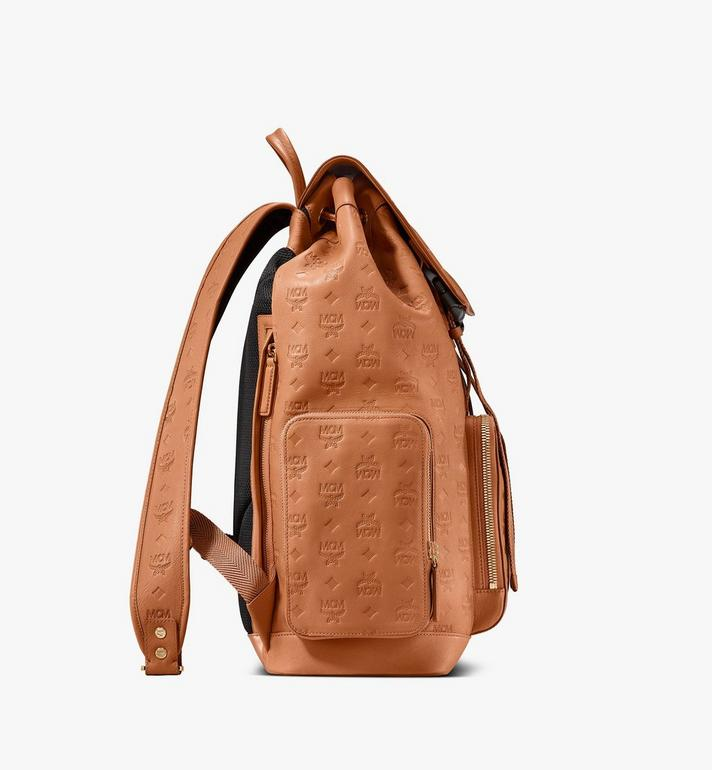 MCM Brandenburg Backpack in Monogram Leather Cognac MMKASBG09CO001 Alternate View 2