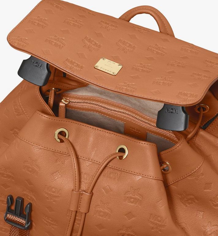 MCM Brandenburg Backpack in Monogram Leather Cognac MMKASBG09CO001 Alternate View 4